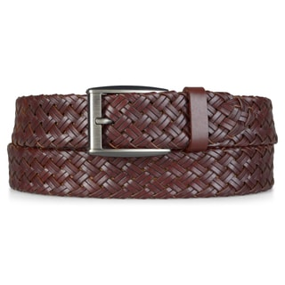 Vance Co. Mens Genuine Leather Woven Belt