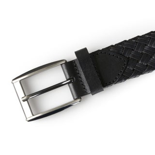 Vance Co. Mens Genuine Leather Woven Belt