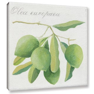 Jennifer Abbott's 'Green Olives' Gallery Wrapped Canvas