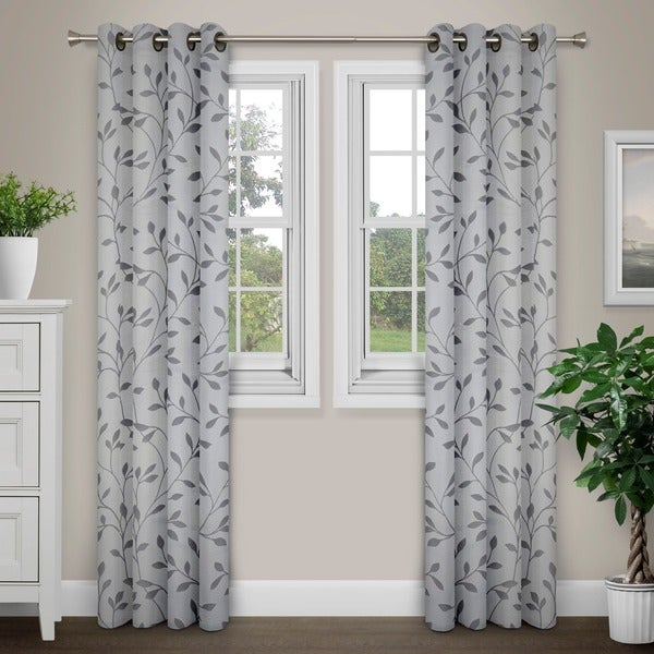 Journee Home 'Jene' Vine Grommet Top 84 in Curtain Panel
