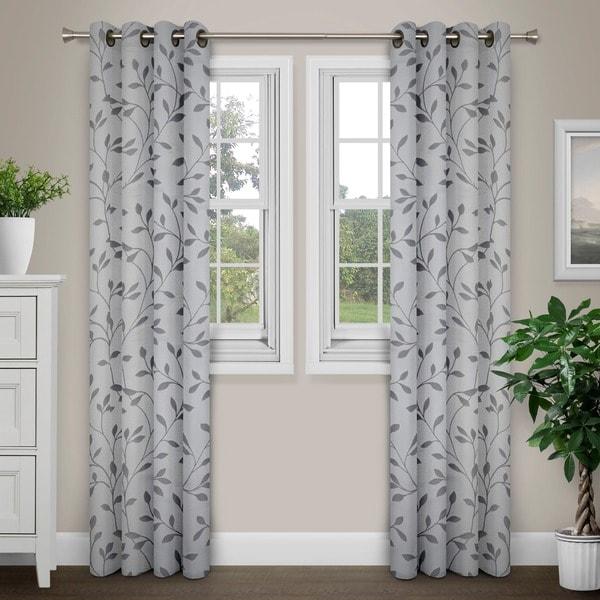 Journee Home 'Jene' Vine Grommet Top 84 in Curtain Panel - 55 x 84