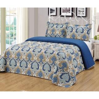 Journee Home 'Reinosa' 3 piece Reversible Bedspread Set