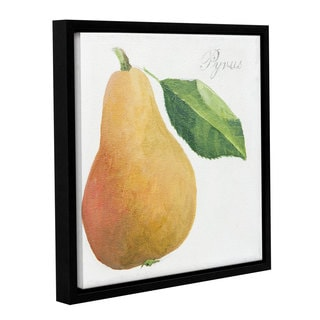 Jennifer Abbott's 'Pyrus Pear' Gallery Wrapped Floater-framed Canvas