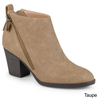 Journee Collection Women's 'Bristl' Zippered High Heeled Booties (More options available)