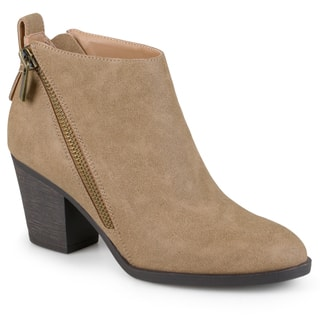 Journee Collection Women's 'Bristl' Zippered High Heeled Booties|https://ak1.ostkcdn.com/images/products/12074072/P18941195.jpg?impolicy=medium