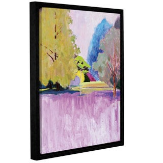 Marco Cazzulini's 'Lilac Summer' Gallery Wrapped Floater-framed Canvas