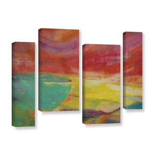 Lou Gibbs's 'Between Land and Sea' 4 Piece Gallery Wrapped Canvas Staggered Set