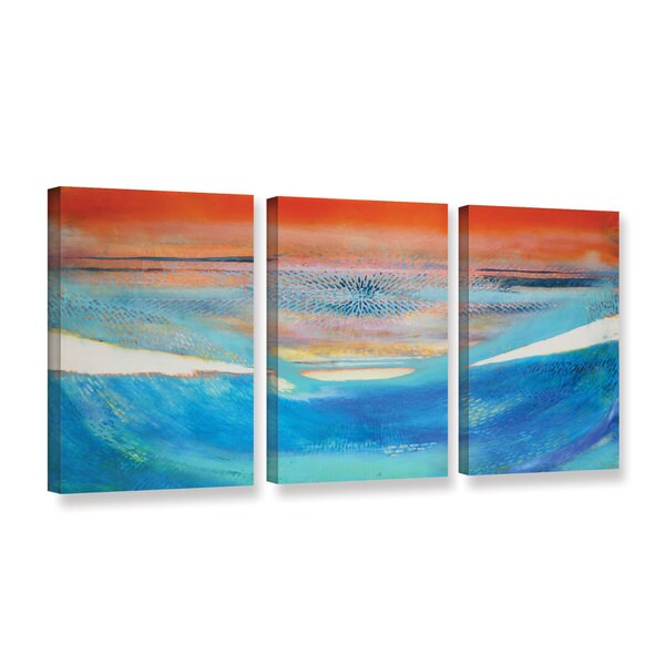 Lou Gibbs's 'Moses' 3 Piece Gallery Wrapped Canvas Set