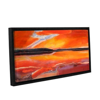 Lou Gibbs's 'Phoenix Rising' Gallery Wrapped Floater-framed Canvas