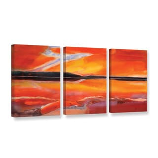 Lou Gibbs's 'Phoenix Rising' 3 Piece Gallery Wrapped Canvas Set