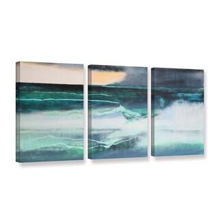 Lou Gibbs's 'Seascape' 3 Piece Gallery Wrapped Canvas Set
