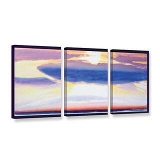 Lou Gibbs's 'Skyscrape' 3 Piece Gallery Wrapped Canvas Set