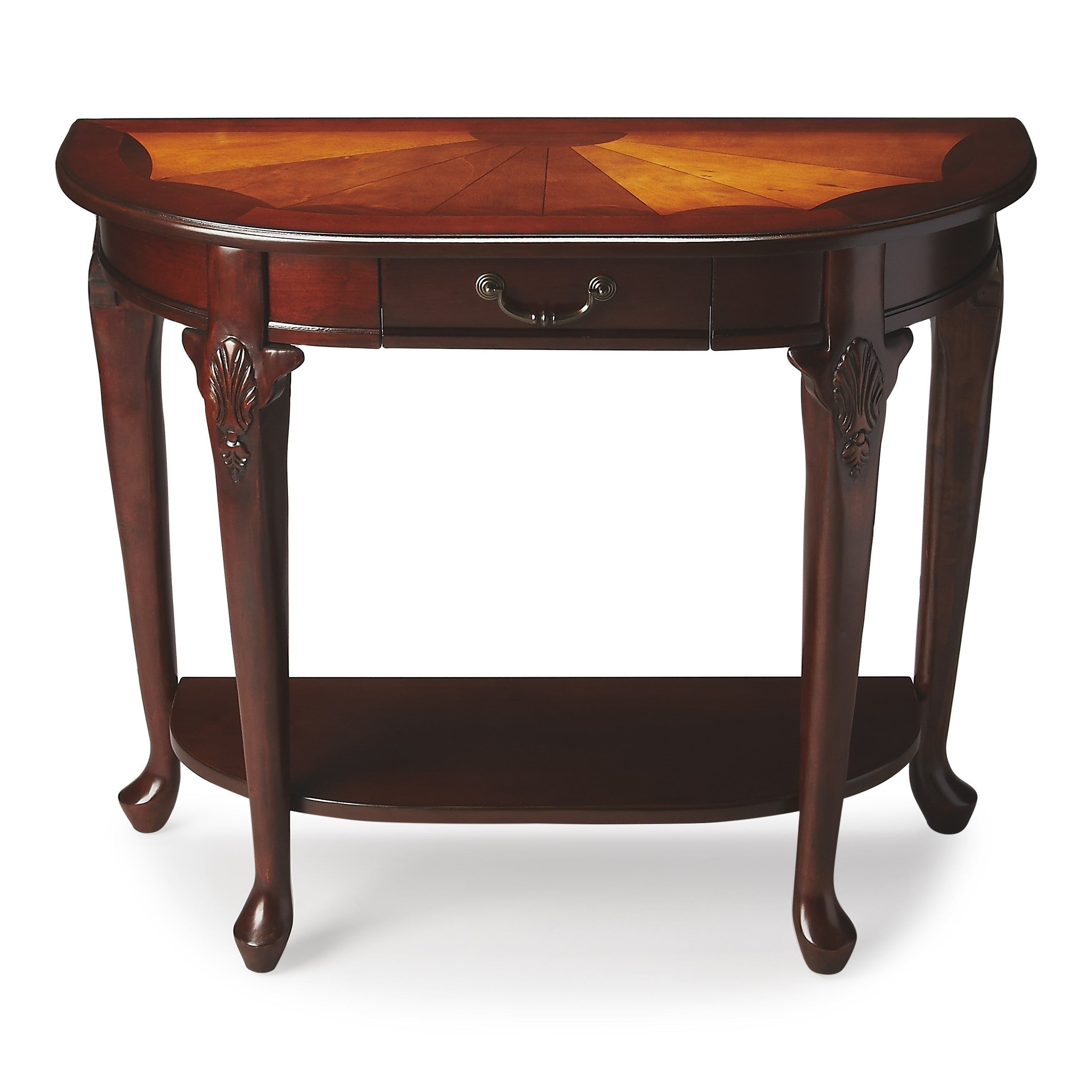 Butler Kimball Plantation Cherry Console Table (Dark Brown)