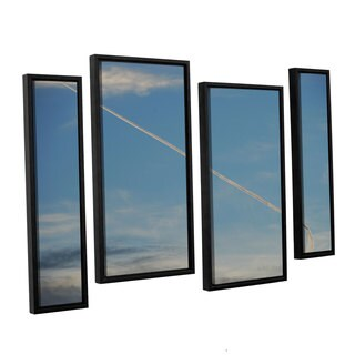 Lou Gibbs's 'Stairway To Heaven' 4 Piece Floater Framed Canvas Staggered Set