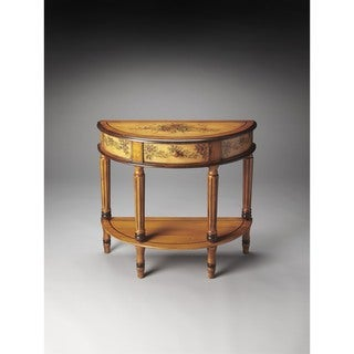 Butler Mozart Light Hand-painted Demilune Console Table