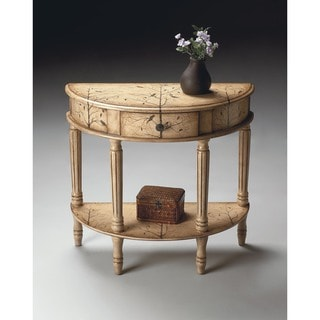 Butler Mozart Winter Forest Painted Demilune Console Table