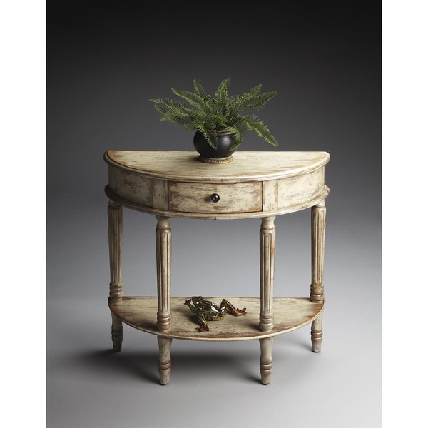 Butler Mozart Chateau Grey Demilune Console Table