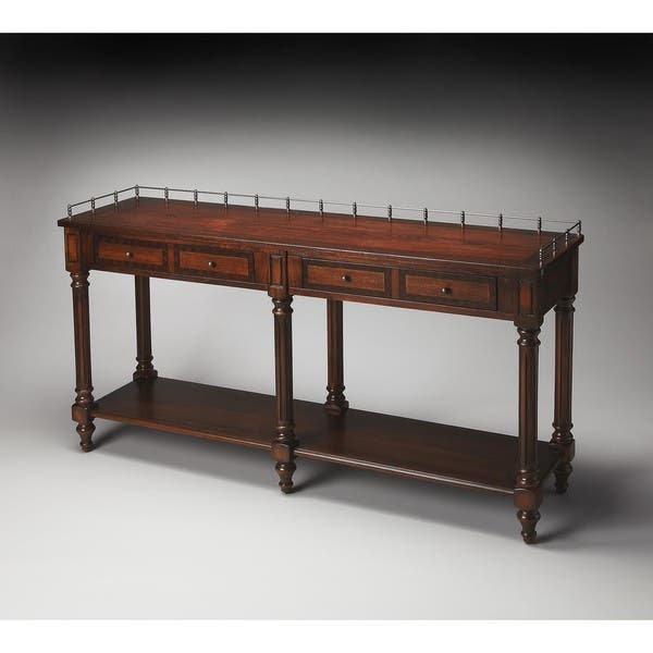 Butler Charleston 770024 Plantation Cherry Wood 60-inch x 16-inch x 32-inch  Sofa/Console Table
