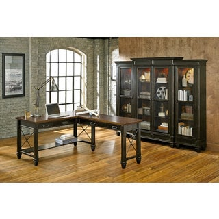 Hatherford Wood Open L-shaped Desk