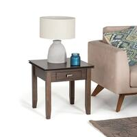 WYNDENHALL Stratford Natural Aged Brown End Side Table