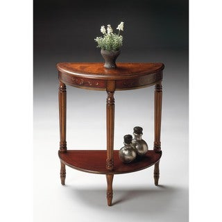 Butler Bellini Cherry/Red Hand-painted Demilune Console Table
