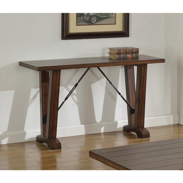 Shop Best Master Furniture Weathered Oak Sleigh: Shop Best Master Furniture Hazelnut Brown Wood/Oak Sofa