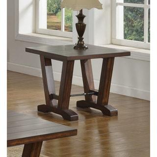 Best Master Furniture Hazelnut Brown Wood and Oak End Table