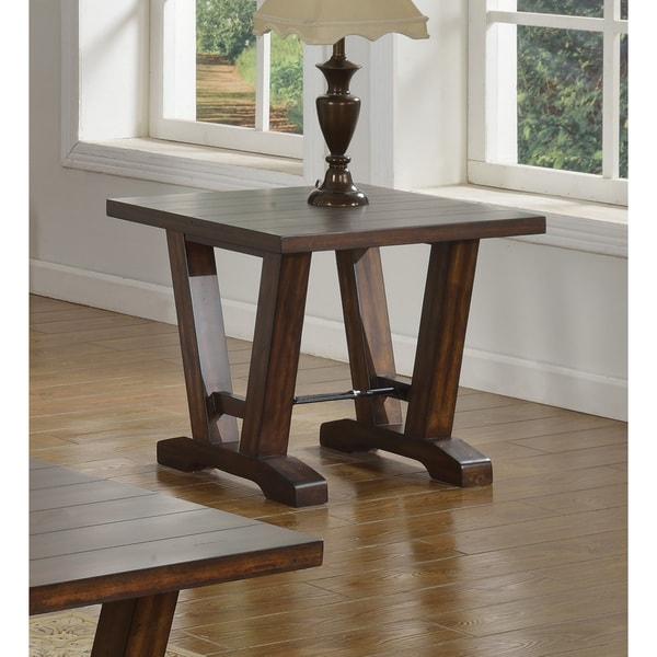 Shop Best Master Furniture Weathered Oak Sleigh: Shop Best Master Furniture Hazelnut Brown Wood And Oak End