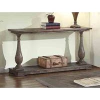Best Master Furniture Rustic Weathered Oak Finish Pine/Veneer Sofa Table