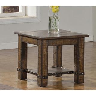 Best Master Furniture Pecan Walnut End Table