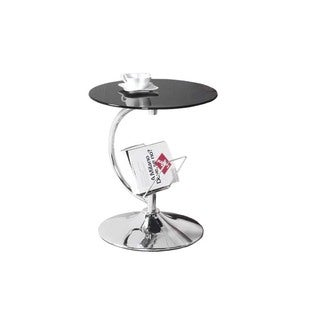 Best Master Furniture Chrome/Glass Side Stand
