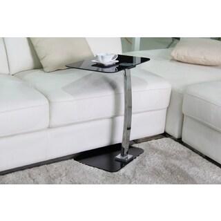 Best Master Furniture U368 Black Chrome/Glass 19-inch x 12-inch x 23-inch Side Stand