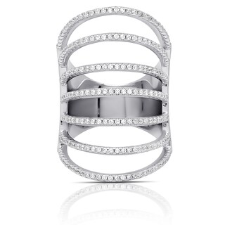 Samantha Stone Sterling Silver Cubic Zirconia Multi Strand Ring (4 options available)