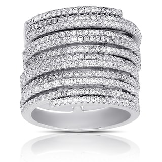 Samantha Stone Sterling Silver Cubic Zirconia Stackable Ring