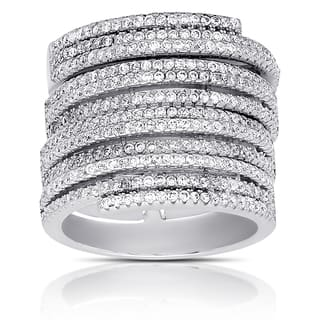 Samantha Stone Sterling Silver Cubic Zirconia Stackable Ring|https://ak1.ostkcdn.com/images/products/12074303/P18941351.jpg?impolicy=medium