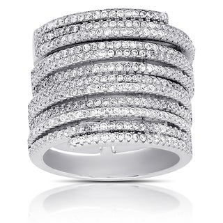 Samantha Stone Sterling Silver Cubic Zirconia Stackable Ring (4 options available)