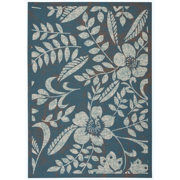 Nourison Coastal Blue Area Rug (7'9 x 10'10)