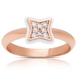 Samantha Stone Rose Gold Over Sterling Silver Cubic Zirconia Ceramic Clove Ring|https://ak1.ostkcdn.com/images/products/12074327/P18941355.jpg?impolicy=medium