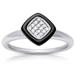 Samantha Stone Sterling Silver Cubic Zirconia Cushion-cut Ring