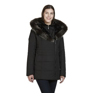 Nuage London Women's Black Polyester Hooded Polyfil Jacket