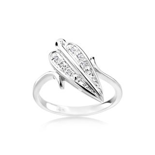 Summer Rose 14k White Gold 0.03ct Fashion Diamond Ring