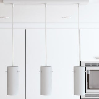 Perseus White Adjustable Triple Pendant with Cylinder Metal Shades