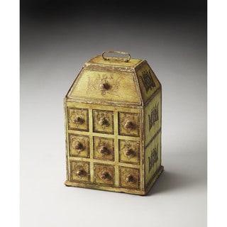 Butler Celadon Solid Mango Wood Jewelry Case