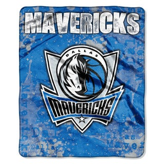 NBA 702 Mavericks Dropdown Raschel Throw