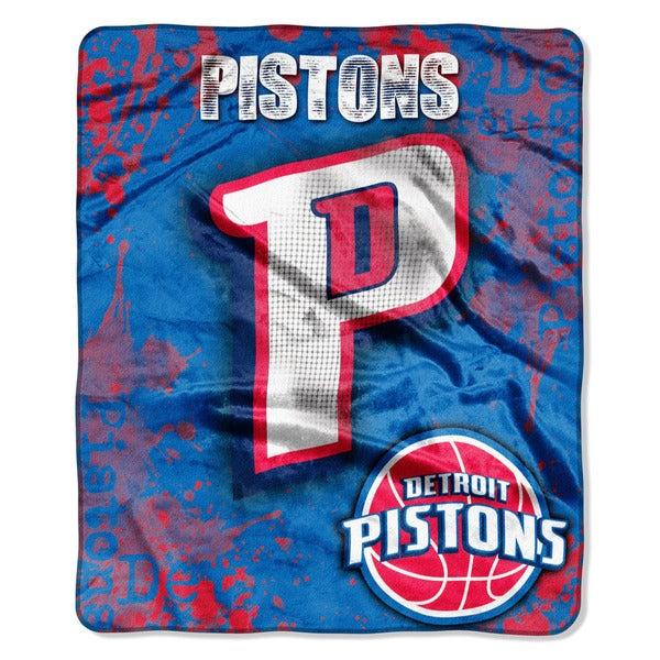NBA 702 Pistons Dropdown Raschel Throw