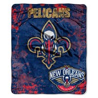 NBA 702 Pelicans Dropdown Raschel Throw