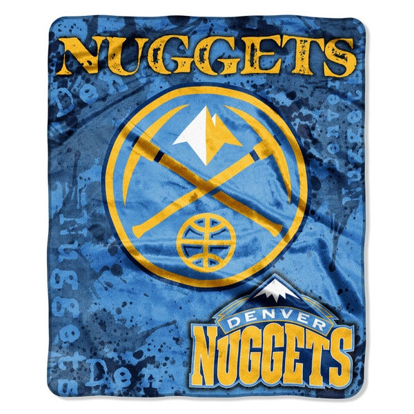 NBA 702 Nuggets Dropdown Raschel Throw