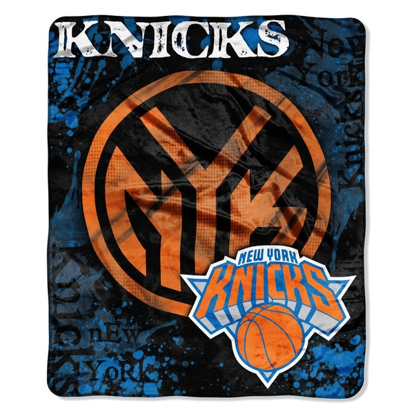 NBA 702 Knicks Dropdown Raschel Throw