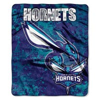 NBA 702 Hornets Dropdown Raschel Throw
