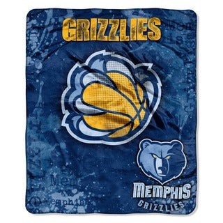 NBA 702 Grizzlies Dropdown Raschel Throw